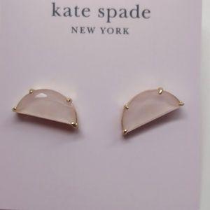 Kate Spade New White Semi-Circle Earrings